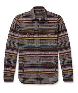 Freemans Sporting Club | Slim-Fit Striped Cotton-Blend Western Overshirt