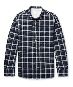 Officine Generale | Lipp Checked Stretch Cotton-Blend Shirt