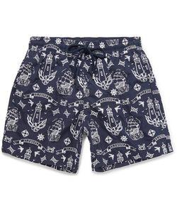 Vilebrequin   Mistral Mid-Length Embroidered Swim Shorts