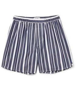 Sleepy Jones | Victor Striped Cotton Boxer Shorts