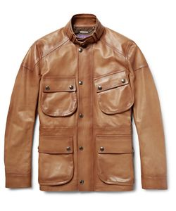 Ralph Lauren Purple | Label Thornhill Burnished-Leather Field Jacket
