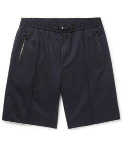 Solid Homme | Stretch-Wool Twill Shorts