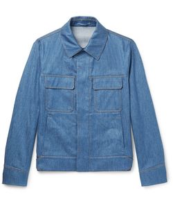 BERLUTI   Slim-Fit Stretch Linen And Cotton-Blend Jacket