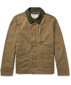 Filson | Mile Marker Moleskin-Trimmed Waxed-Cotton Jacket