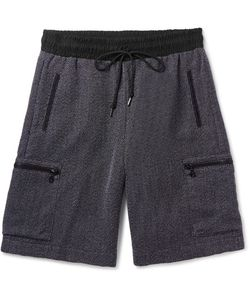 John Elliott | Slim-Fit Mélange Woven Drawstring Shorts