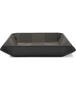 Foundwell Vintage | Gitman Vintage Leather And Cotton-Jacquard Travel Tray