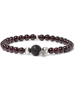 Peyote Bird | Sterling Garnet And Lava Bracelet