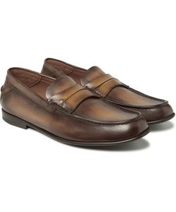 BERLUTI | Polished-Leather Penny Loafers