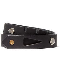 Kapital   3cm Arrowhead Embellished Leather Belt