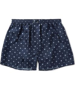 Derek Rose | Otis Printed Silk Boxer Shorts