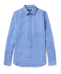 HUGO BOSS | Garment-Washed Linen Shirt