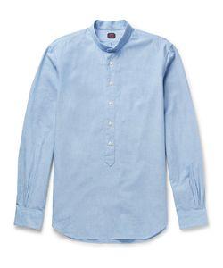 MP MASSIMO PIOMBO | Grandad-Collar Cotton Oxford Shirt