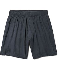 The Elder Statesman | Hammered-Silk Drawstring Shorts