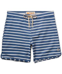 MOLLUSK | Mid-Length Striped Cotton-Blend Swim Shorts