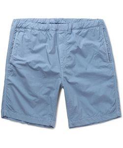 Albam   Garment-Dyed Cotton-Canvas Shorts
