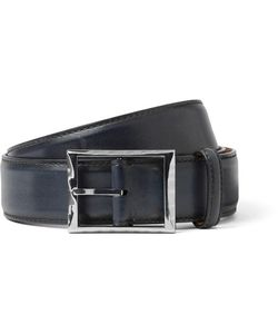 BERLUTI | 3.5cm Polished-Leather Belt