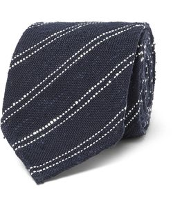 Thom Sweeney | 8cm Striped Silk And Cotton-Blend Tie