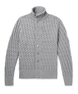 S.N.S. HERNING | Stark Textured-Knit Wool Cardigan