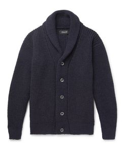 HOWLIN' | Howlin Shawl-Collar Virgin Wool Cardigan
