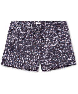 Club Monaco | Arlen Slim-Fit Mid-Length Print Swim Shorts Midnight