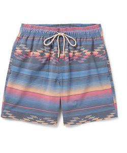 Faherty   Beacon Mid-Length Printed Swim Shorts