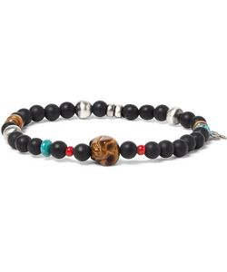 Peyote Bird | Sterling Turquoise And Tigers Eye Bracelet