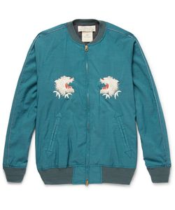 Remi Relief | Embroidered Voile Bomber Jacket