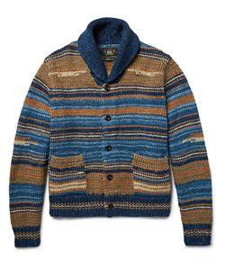 RRL | Shawl-Collar Striped Cotton-Blend Cardigan