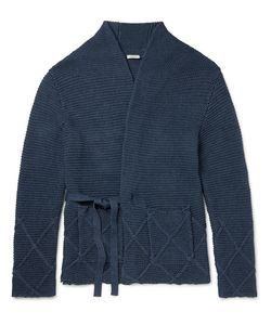 Eidos | Ribbed-Knit Cotton Wrap Cardigan