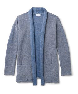 John Elliott | Shawl-Collar Mélange Linen And Cotton-Blend Cardigan