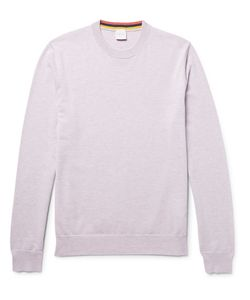 Paul Smith | Mélange Cashmere Cotton And Wool-Blend Sweater