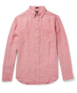 J.Crew | Slim-Fit Button-Down Collar Slub Linen Shirt