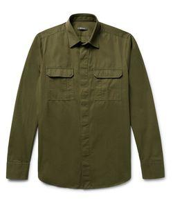 BERLUTI | Slim-Fit Cotton And Cashmere-Blend Twill Shirt
