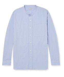 MARGARET HOWELL | Grandad-Collar Cotton-Poplin Shirt