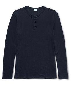 Onia | Miles Slim-Fit Slub Linen-Blend Henley T-Shirt