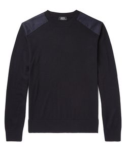 A.P.C. | . Johnny Canvas-Trimmed Merino Wool Sweater