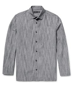 Issey Miyake | Textured Cotton Linen And Ramie-Blend Shirt