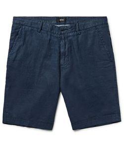 HUGO BOSS | Slim-Fit Linen Shorts