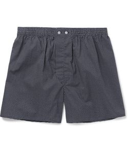 Derek Rose | Plaza Polka-Dot Cotton Boxer Shorts
