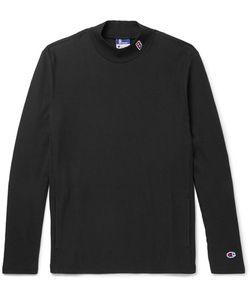 Beams | Champion Slim-Fit Cotton-Blend Jersey Mock-Neck Sweatshirt