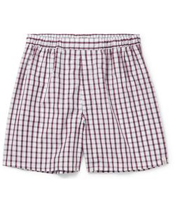 Sleepy Jones | Victor Checked Cotton Boxer Shorts