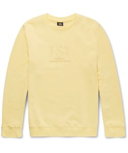 Stüssy | Embroidered Fleece-Back Cotton-Blend Jersey Sweatshirt
