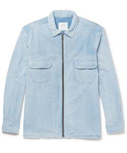 Noon Goons | Brushed-Denim Zip-Up Jacket