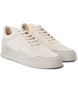 Filling Pieces | Ghost Perforated Nubuck Sneakers