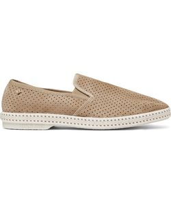 Rivieras | Perforated Suede Espadrilles