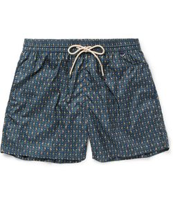 RUBINACCI | Mid-Length Monkey-Print Swim Shorts