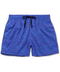 Everest Isles | Anton Mid-Length Coral-Print Swim Shorts