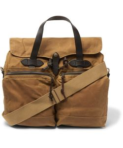 Filson | Leather-Trimmed Waxed Cotton-Canvas Briefcase