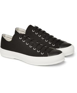 Beams | Canvas And Leather Sneakers