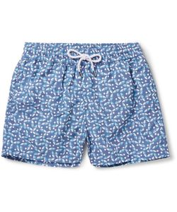 FRESCOBOL CARIOCA | Acai Mid-Length Printed Swim Shorts